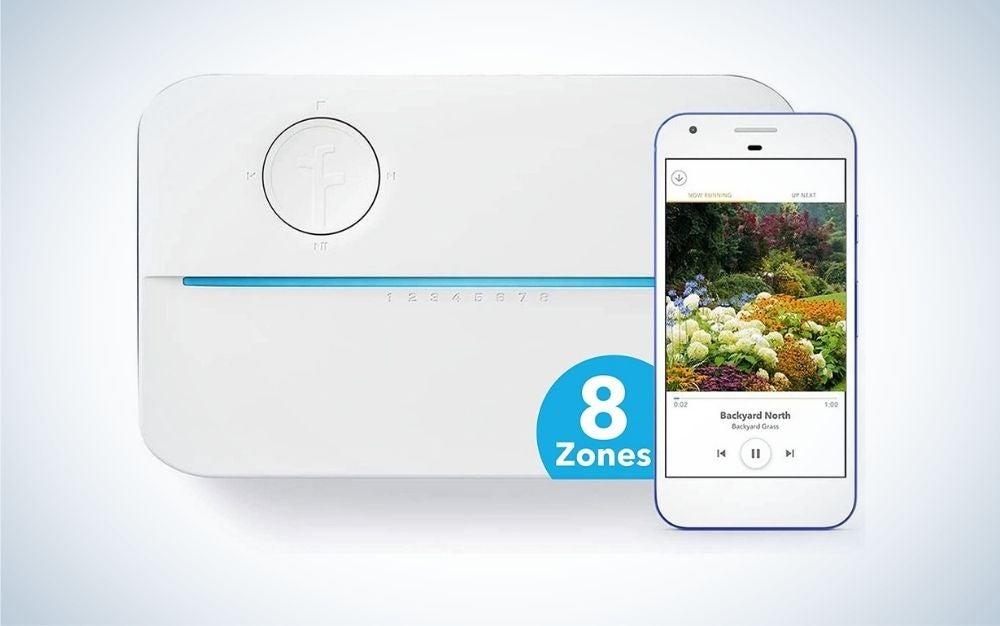 White 8 zones smart sprinkler controller
