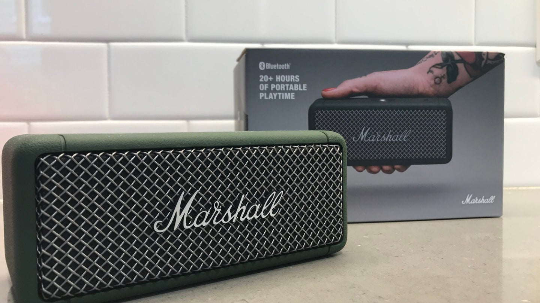 Marshall Emberton best Bluetooth speaker with box
