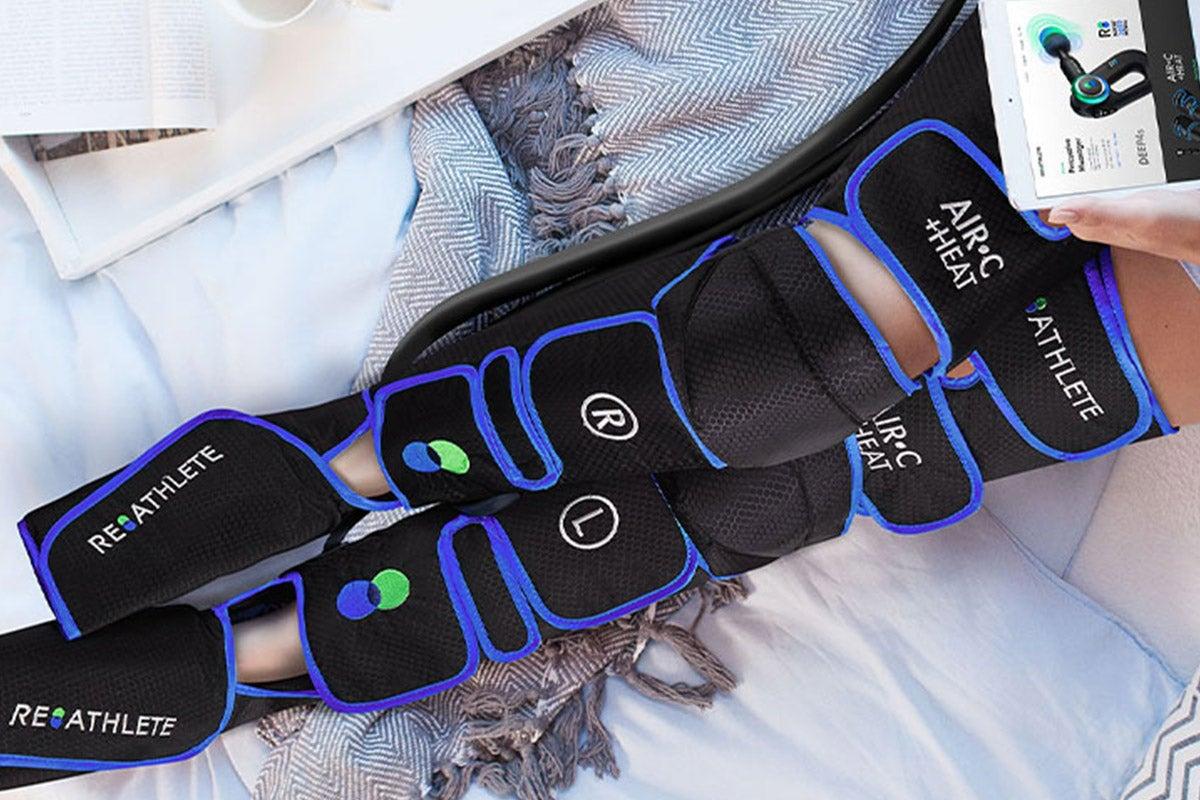 Heat and massage tool on legs