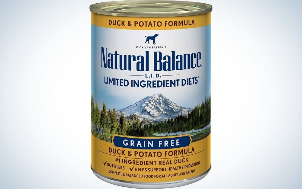 A can of Natural Balance LID wet dog food