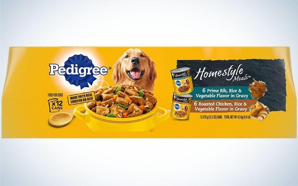 Pedigree wet dog food