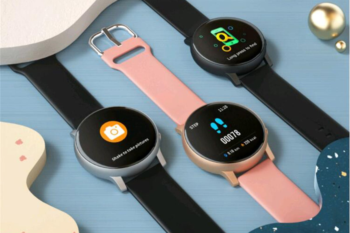 Fitness watches displayed
