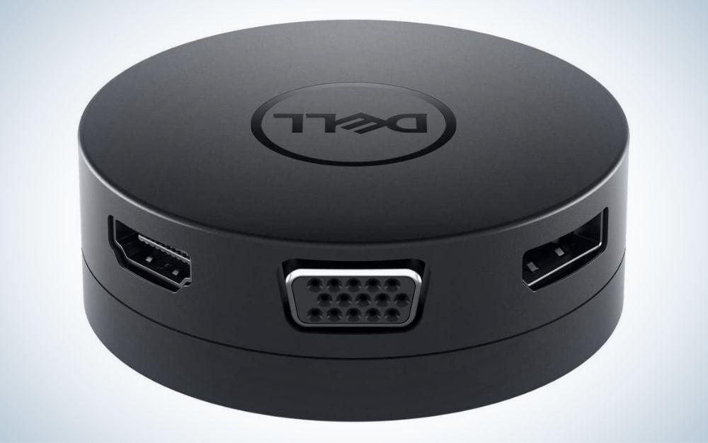 Black Dell mobile adapter usb c hub