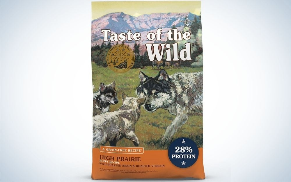Taste of the Wild dry dog food grain free with roasted bison and roasted venison