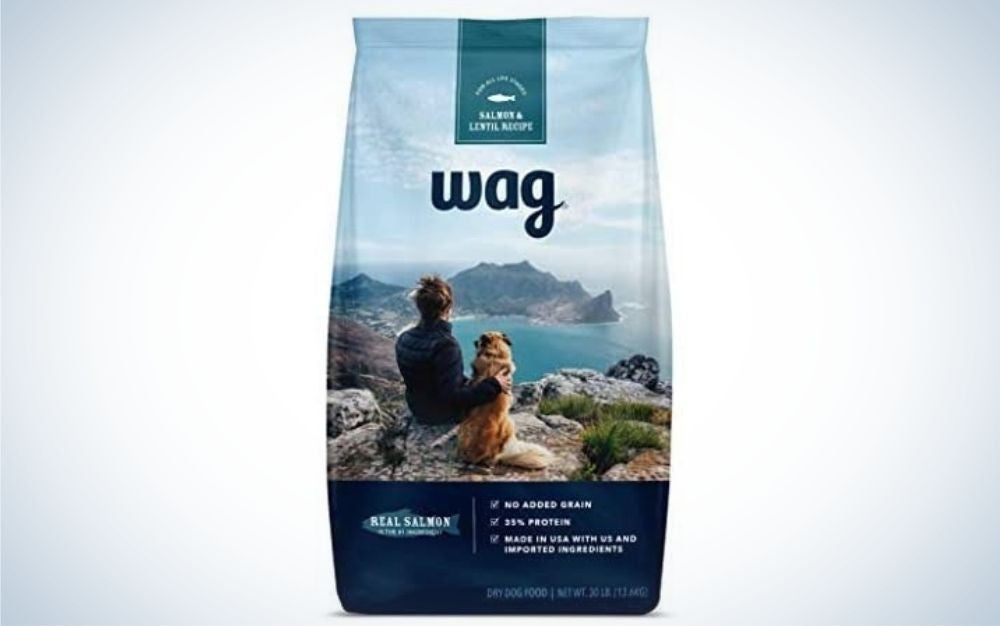 WAG dry dog food with no added grains
