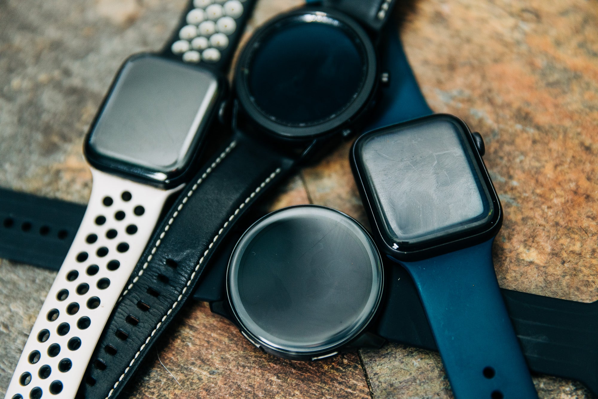 A collection of the best smartwatches including the Apple Watch 6 and the Samsung Galaxy Watch 3