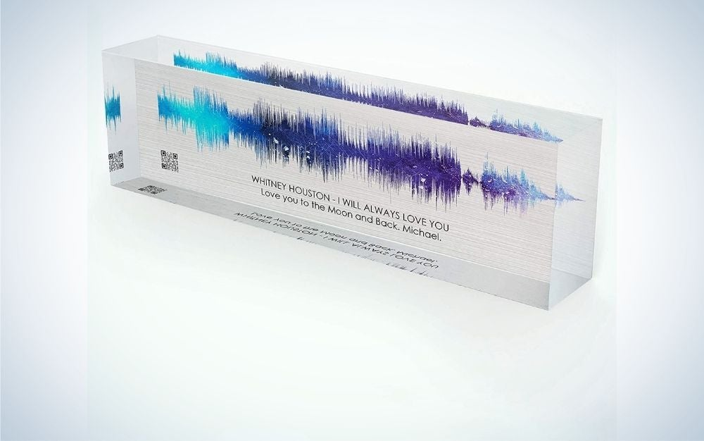 Artblox Soundwave Art is a great choice for personalized Father's Day gifts for the audiophile.