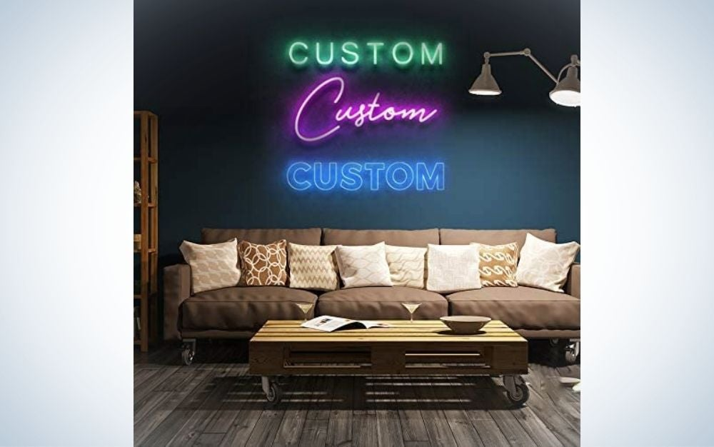 Custom 25-inch LED Neon Signs, one of the most epic personalized Father's Day gifts.