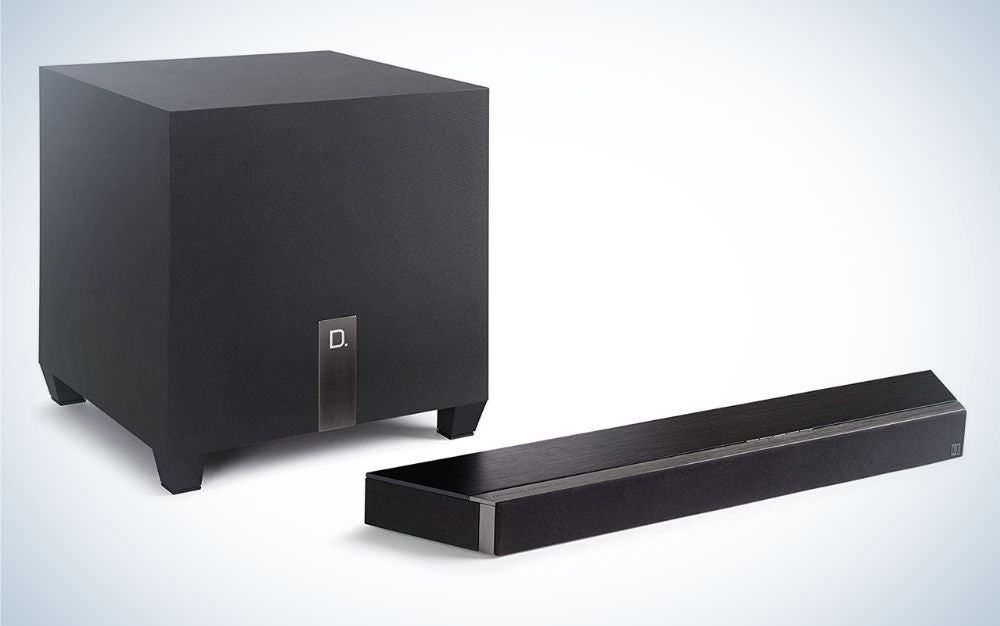 Black, electric corded sound bar father's day gift