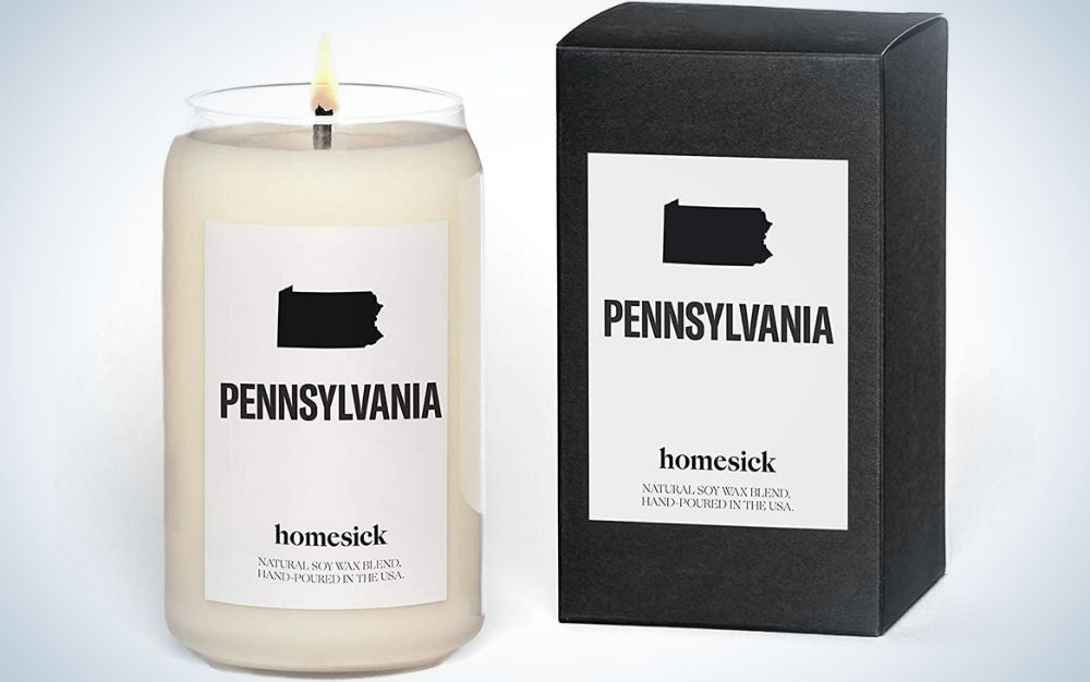 Homesick Scented Candle, one of the best personalized Father's Day gifts.
