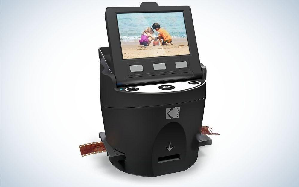 Black Kodak digital film and slide scanner with large tilt up gift for father's day