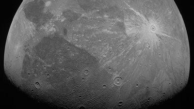 NASA's Juno orbiter captured striking close-ups of Jupiter's biggest moon