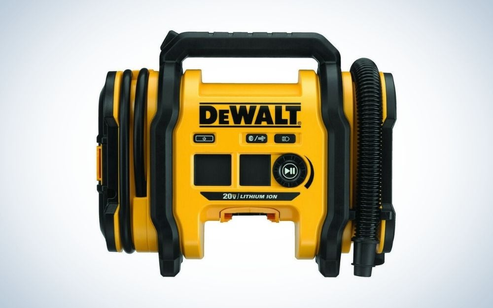 The DEWALT is the best air compressor to keep in your car.