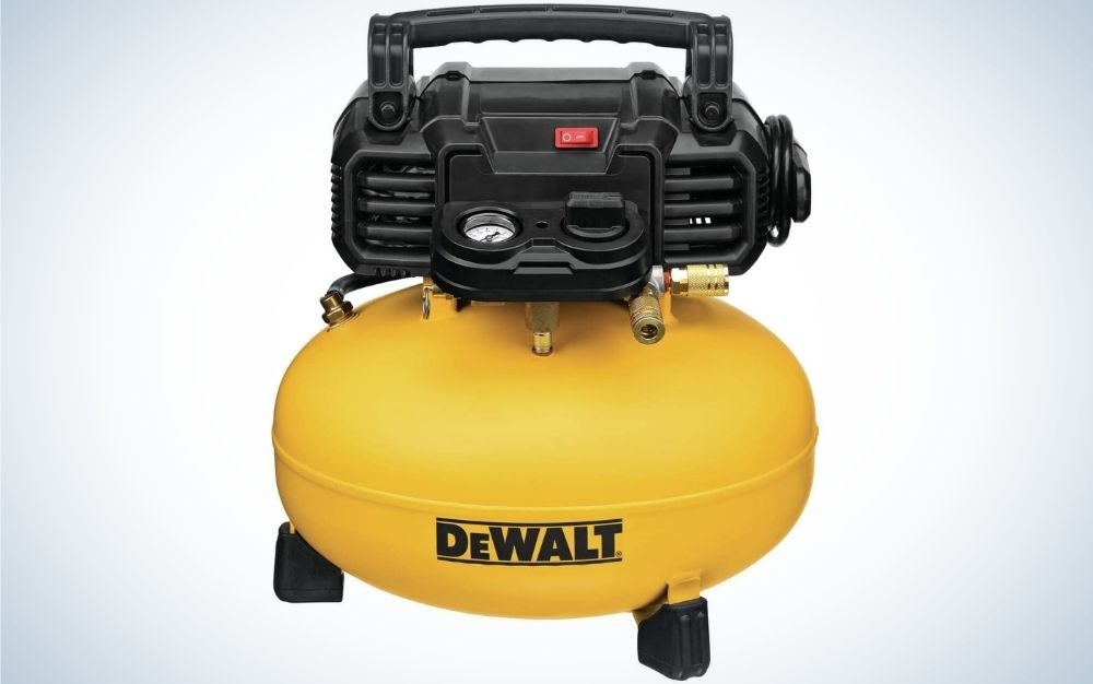 The Dewalt pancake is the best air compressor on a budget.
