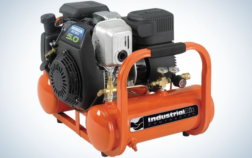 The industrial air contractor is the best air compressor with an electric battery.