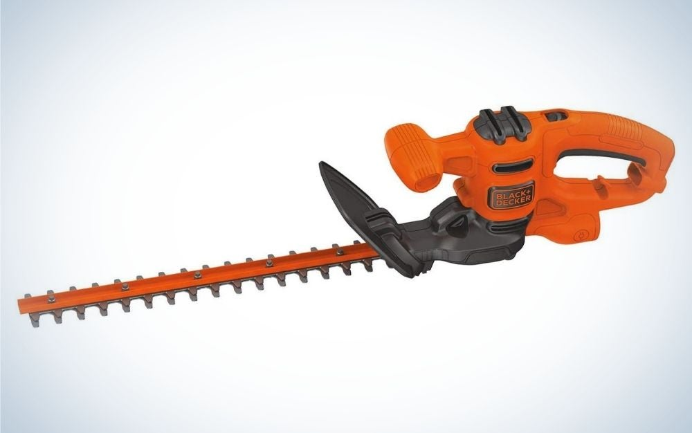 This Black and Decker, electric hedge trimmer is the best hedge trimmer for the money