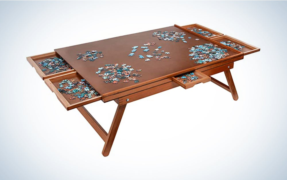 The Jumbl Puzzle Board Rack is best for puzzle fanatics.