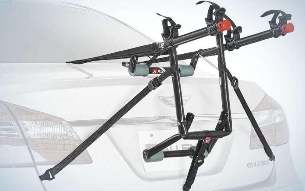 Black steel bike racks for cars