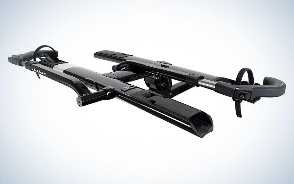 Black aluminum bike racks for cars