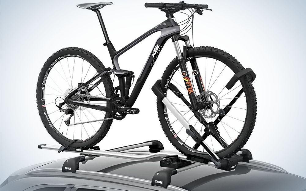 Black aluminum up ride roof bike racks for cars