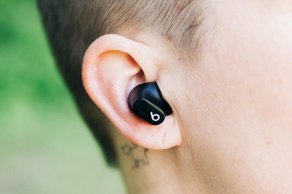 Beats studio buds in ear