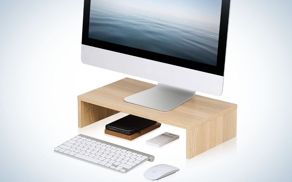 The Fitueyes stand is the best computer monitor stand for students.