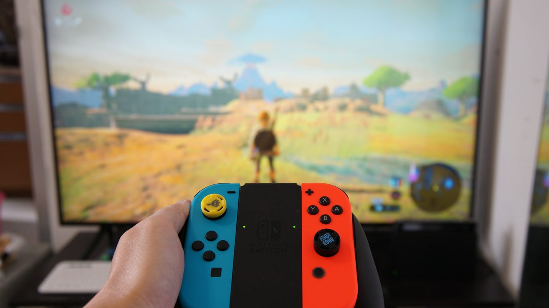Nintendo Switch JoyCons Legend of Zelda Breath of the Wild
