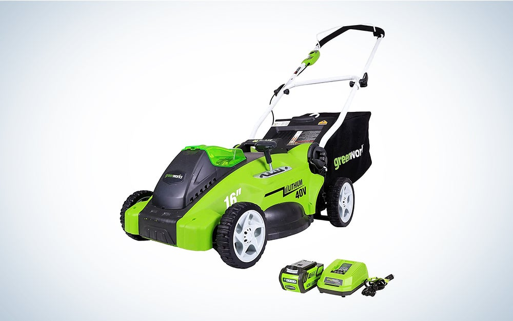 greenworks lawn mower prime day deal
