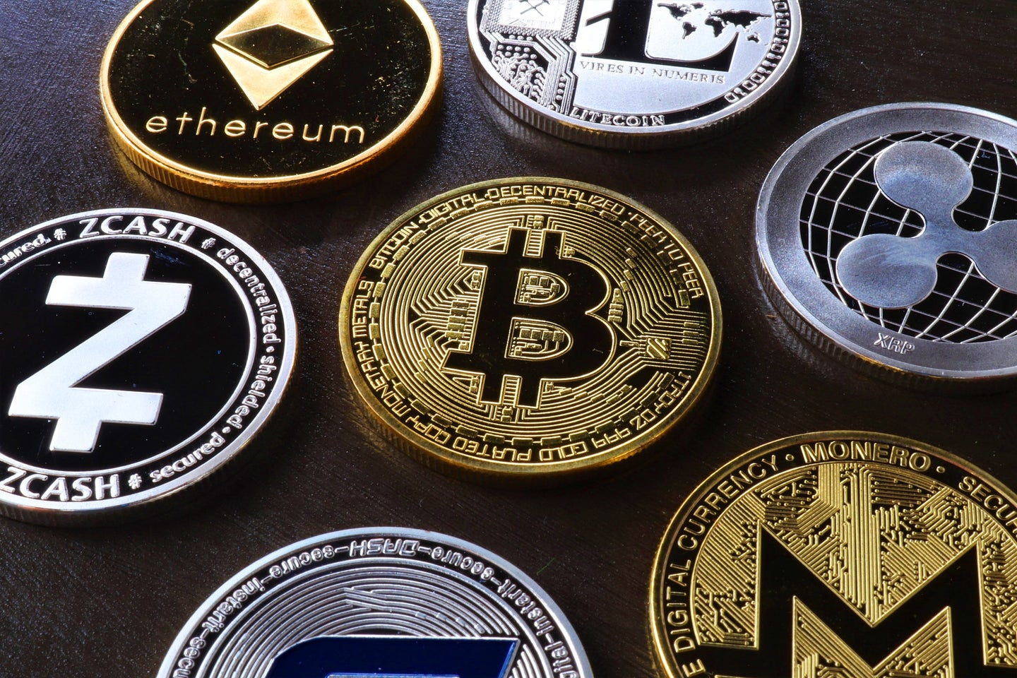 Physical depictions of digital cryptocurrency