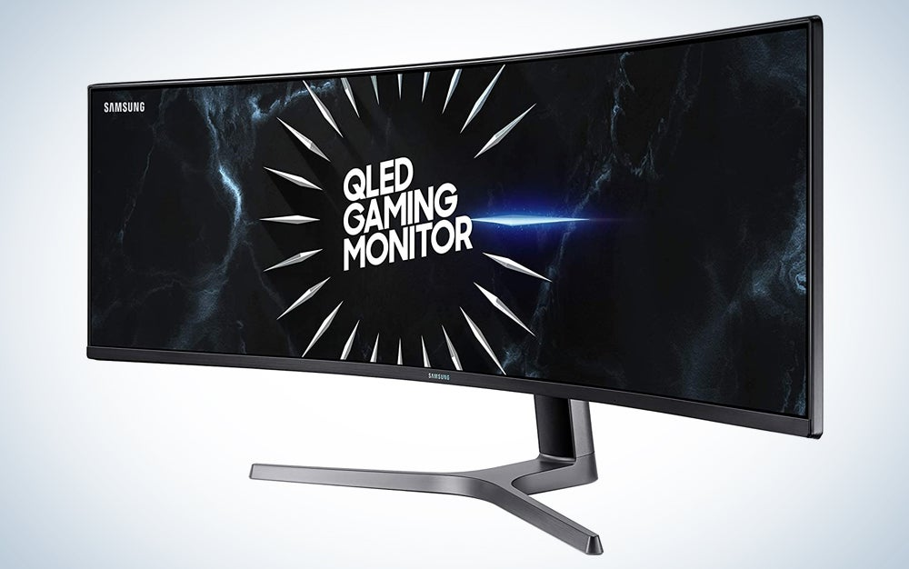 a large curved monitor, one of the best prime day deals for computers