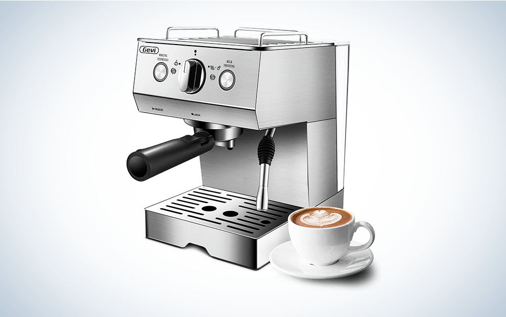 The Gevi Espresso Machine is the best at-home latte.