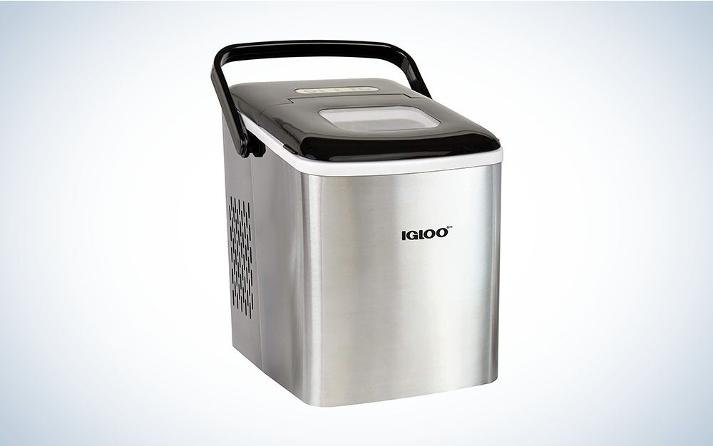 The Igloo Automatic Self-Cleaning Portable Electric Countertop Ice Maker Machine is the best way to keep cool.