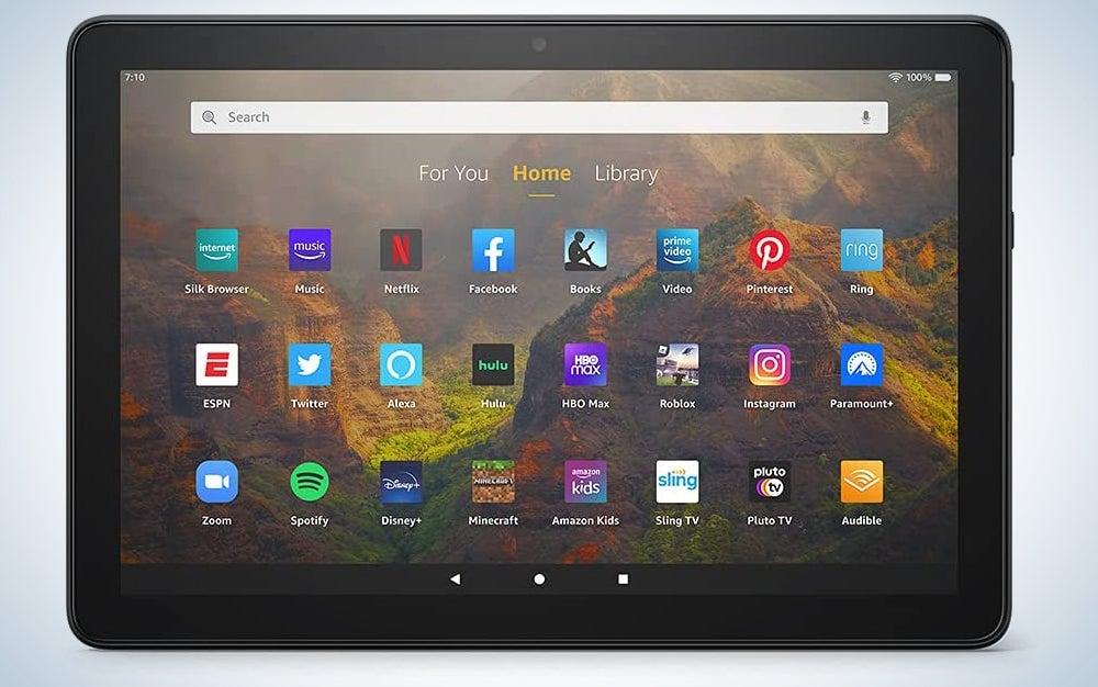 Amazon HD 10 tablet entertainment system