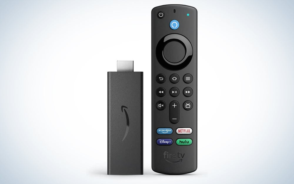 A fire TV stick and voice remote, one of the Amazon prime day sales