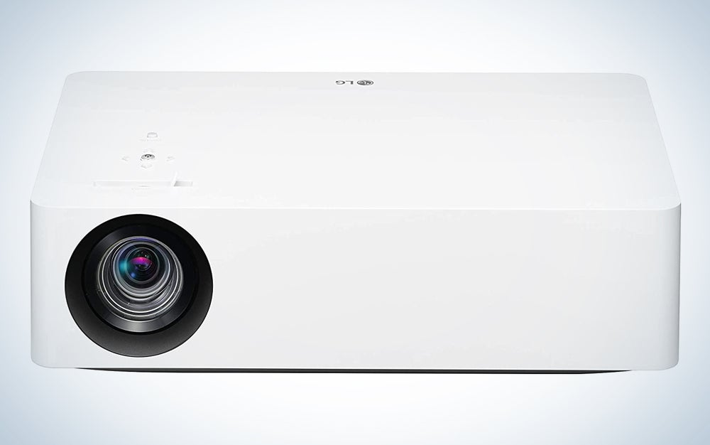 white home theater projector