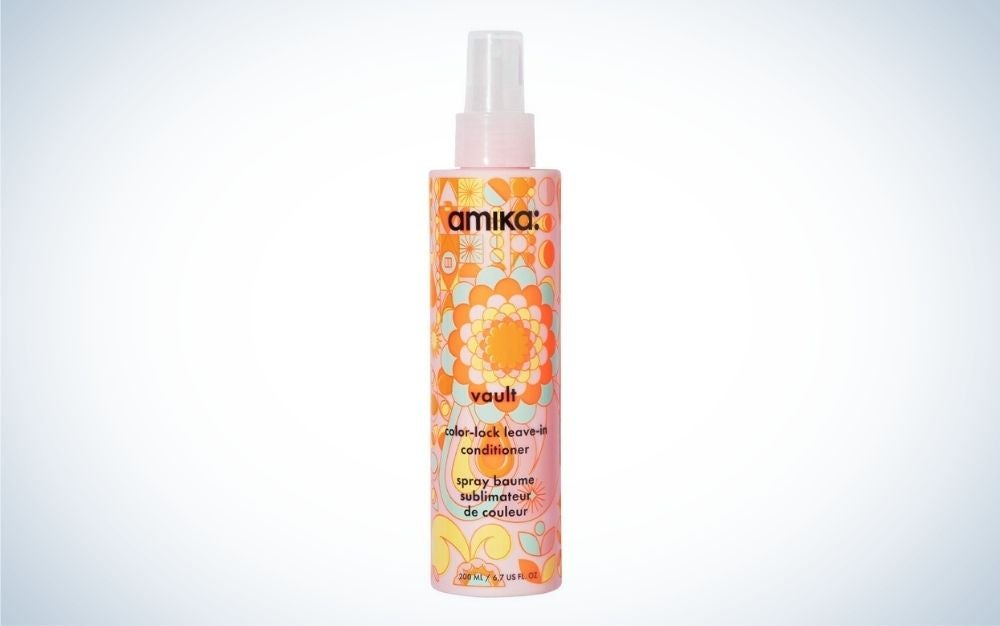 Bottle of color lock leave-in conditioner for chemically treated hair