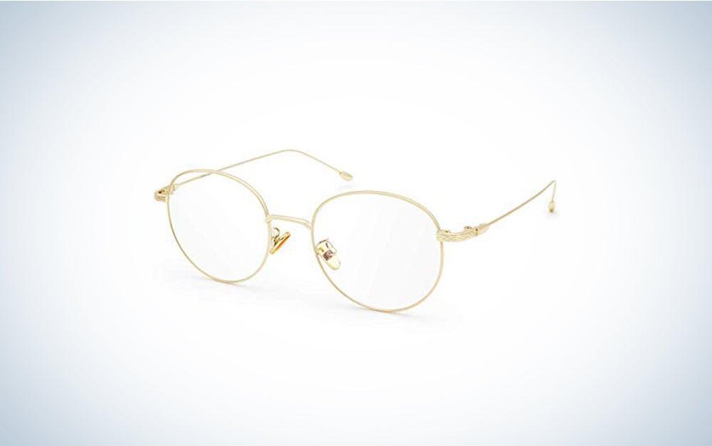 metal frame blue light blocking glasses
