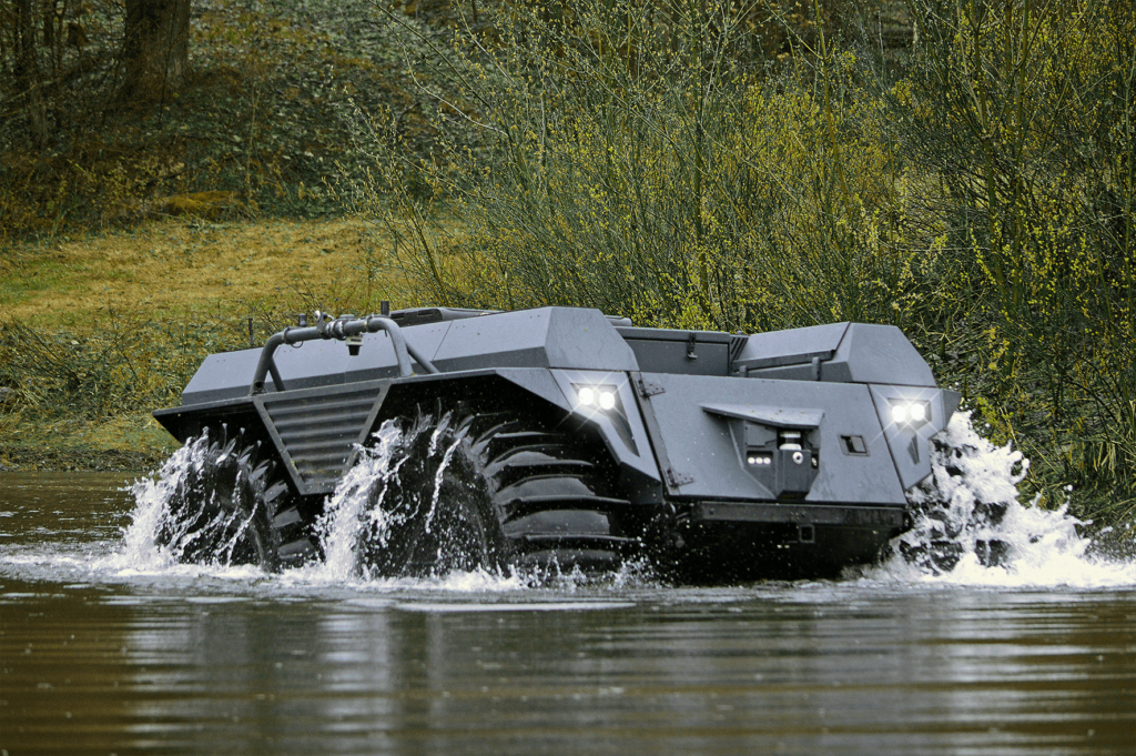 The new Mission Master XT is a massive military self-driving pack mule