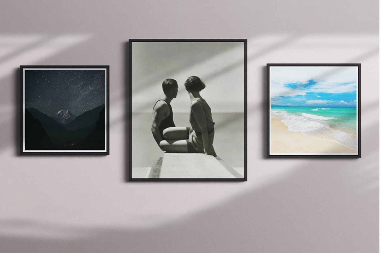 three-framed-photos-on-wall