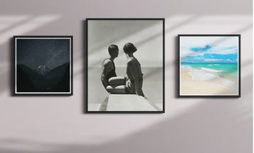 The scientifically best way to create a photo gallery wall