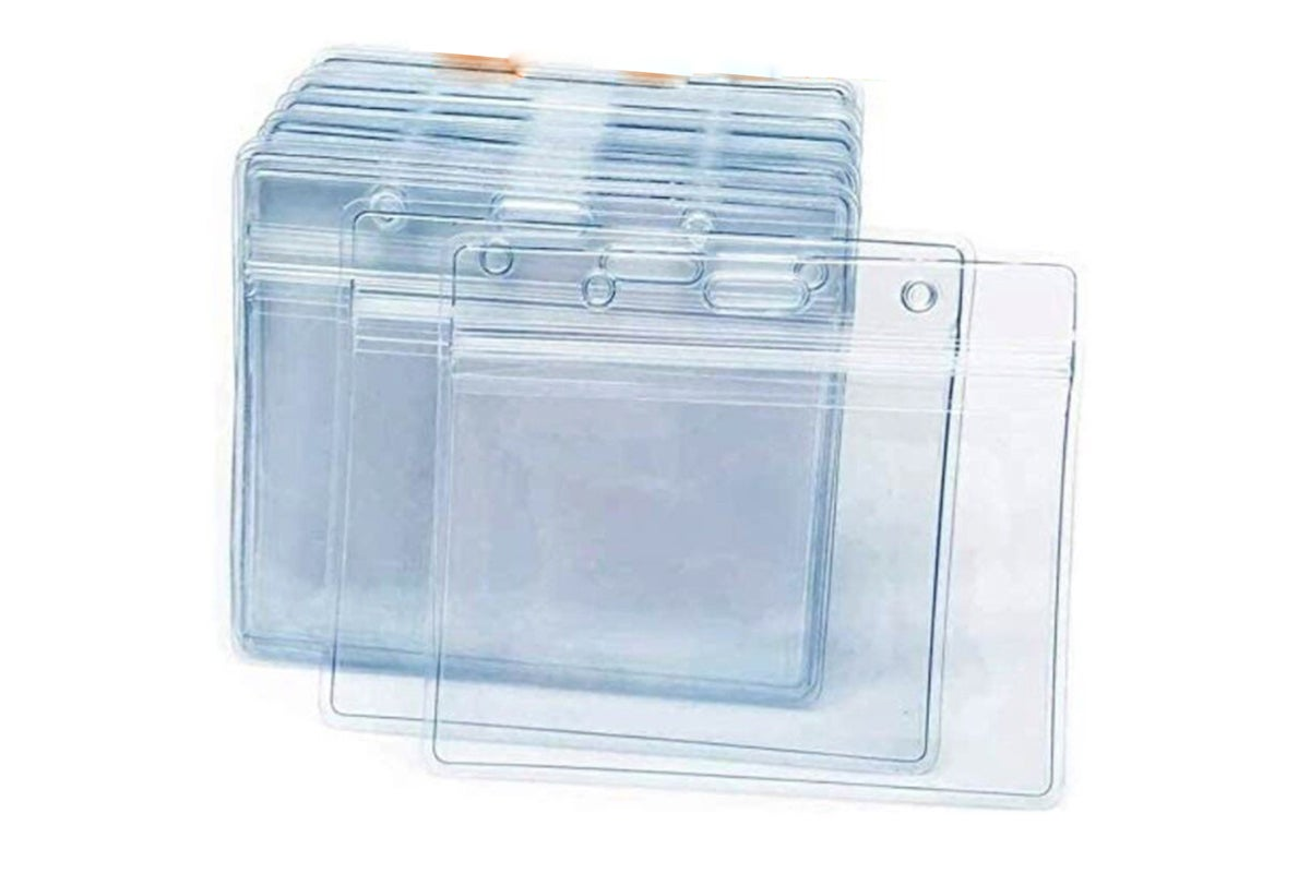 Clear card holders