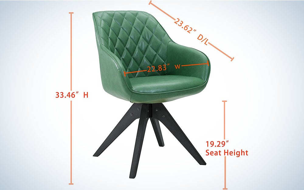 The Art Leon Mid Century Modern Accent Chair is the best upholstered.