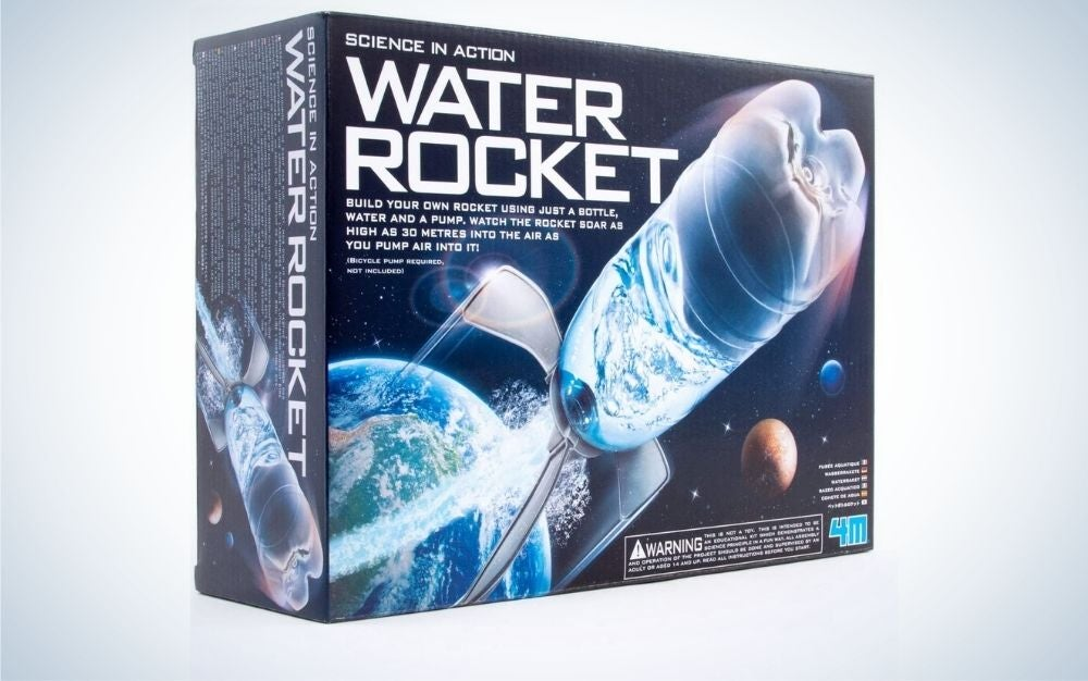Water rocket kit for children and teenagers