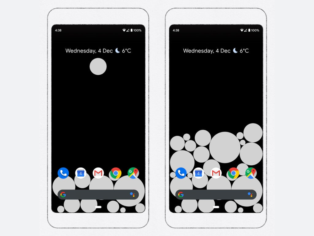 The Activity Bubbles Android live wallpaper.
