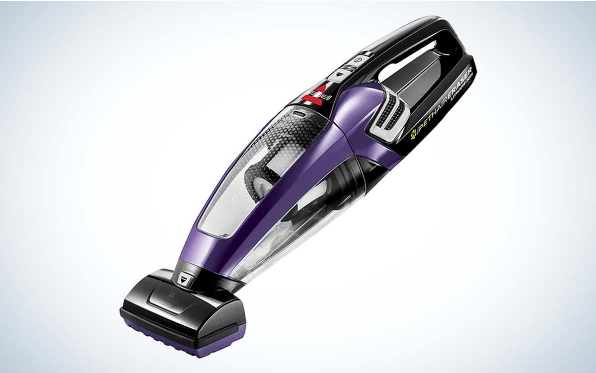 The BISSELL Pet Hair Eraser Cordless Hand Vacuum is the best cordless handheld vacuum.