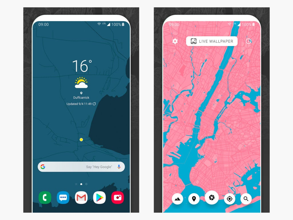 The Cartogram Android live wallpaper.