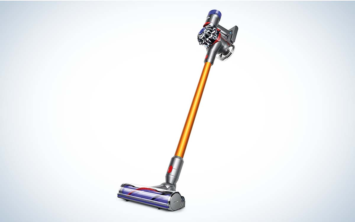 The Dyson V8 Absolute Cordless Stick Vacuum Cleaner is the best cordless vacuum for hardwood floors.