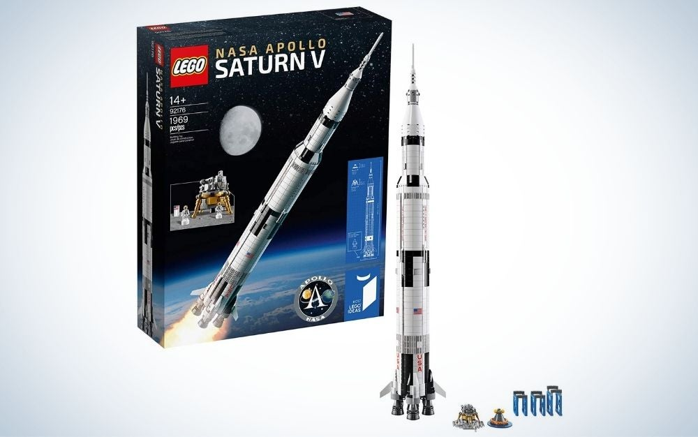 LEGO Ideas NASA Apollo Saturn V is the best rocket model for building.