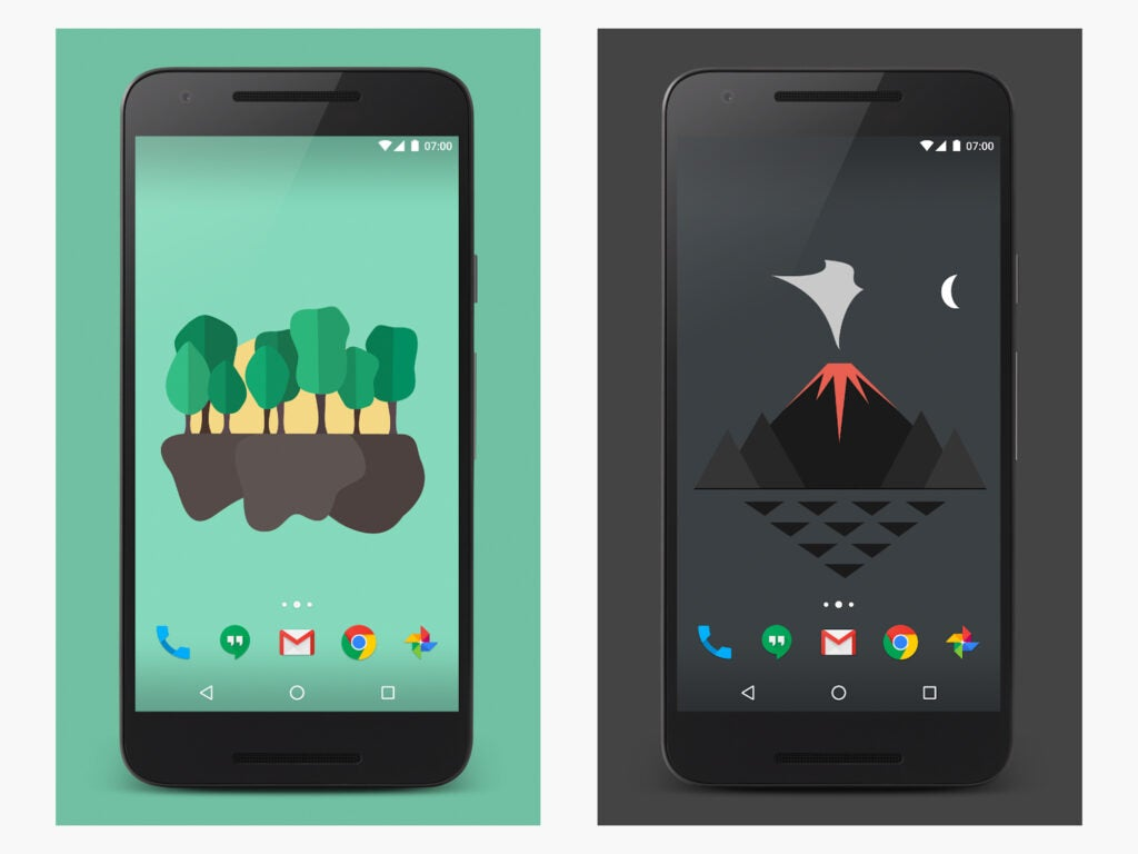 The Material Islands Android live wallpaper.