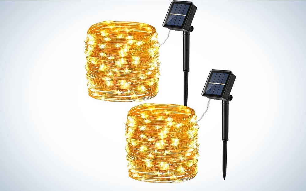 Brizled the best twinkle lights for solar panels